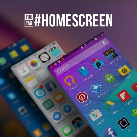 daily hashtag homescreen