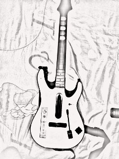 old photo guitar music photography black & white