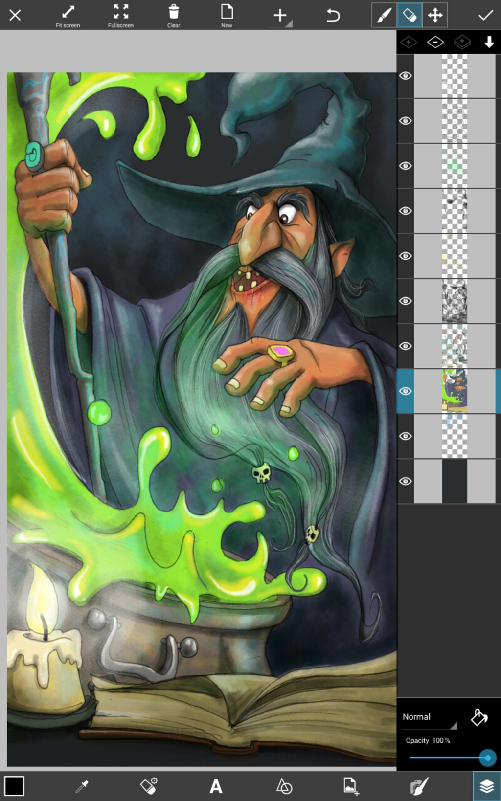 step by step tutorial on how to draw a wizard