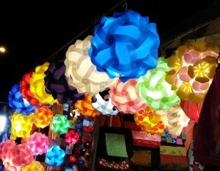colorful market hochiminh vietnam travel