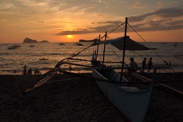 philippines sunset sun beach boat