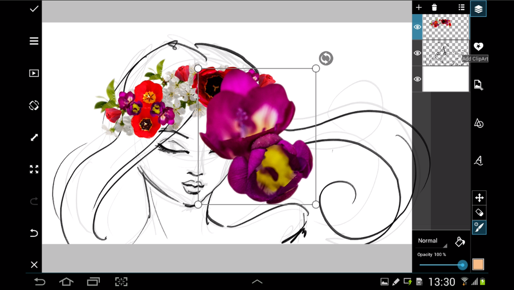 How to decorate your drawings with flower clipart create step 5 position flowers izmirmasajfo