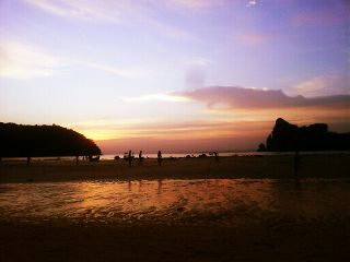 sunset beach summer