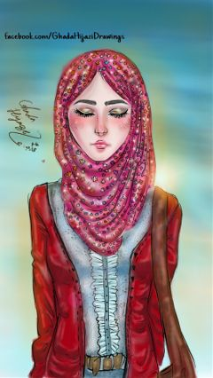 drawing art digital_art hijab sketch
