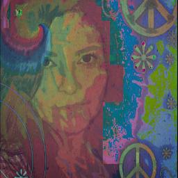 colorful hippie artisticselfie peace mobilephotograpy