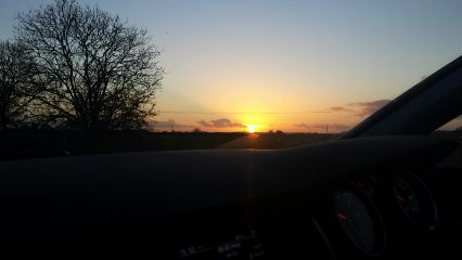 evening sunset car sky sun