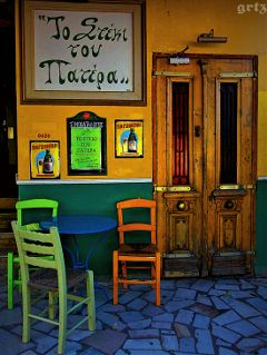 travel photography greece ouzo colourful