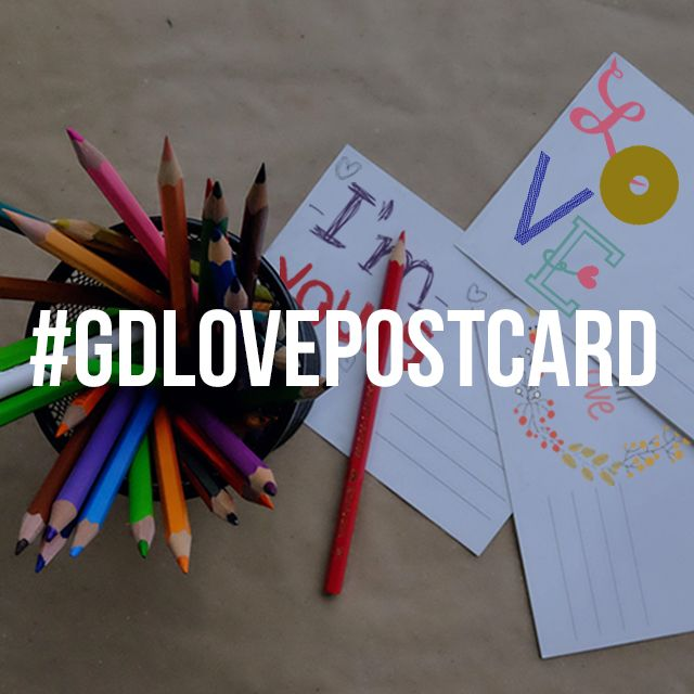 love postcard graphic design contest