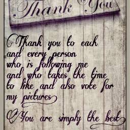 thankyou followers humbled