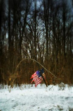 americanflag winter snow